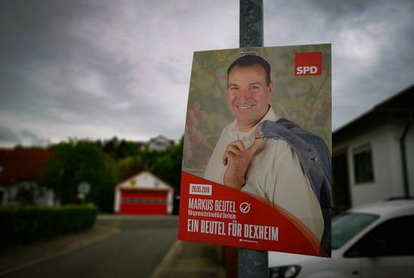 Kandidatenfoto Wahlplakat Frankfurt Rheinhessen Rhein-Main